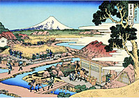 Estampe du mont Fuji, Japon
